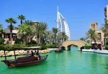 Madinat Jumeirah and the Burj al Arab Hotel in Dubai
