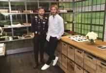 David Beckham & Daniel Kearns at the Kent & Curwen Store Opening Event.