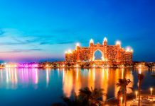 The view of Atlantis The Palm from The Pointe at Palm Jumeirah