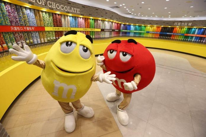 M&Ms World Shanghai reopened yesterday in Shanghai