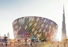 Dubai Arena facade installed ahead of 2019 opening...