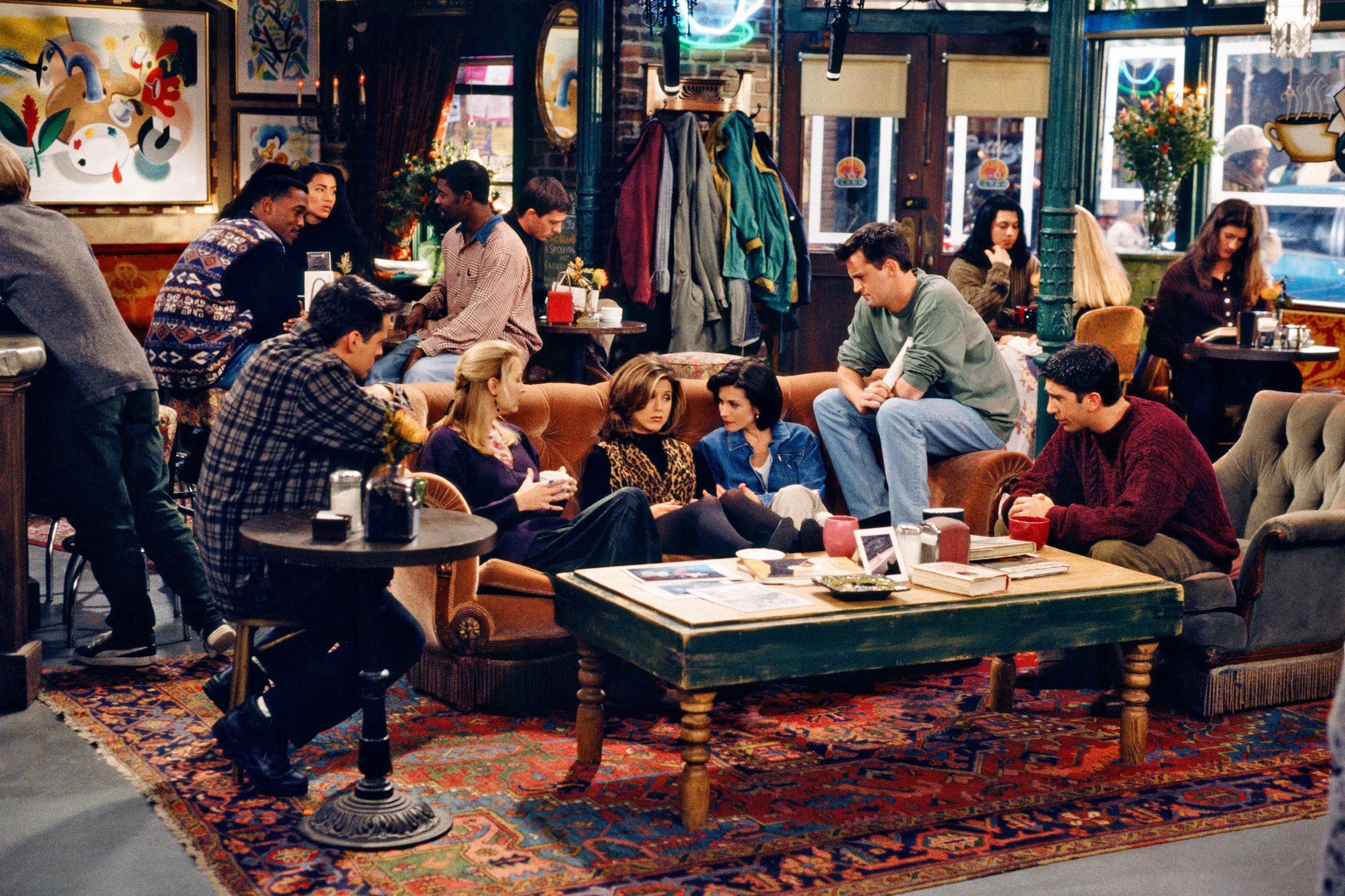 Friends at central perk